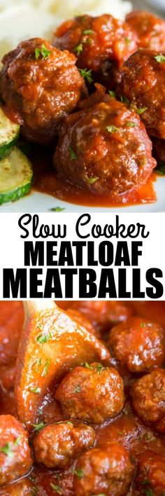 Feed A Crowd With Slow Cooker Meatloaf Meatballs Make The Meatballs Ahead From S. Feed A Crowd With Slow Cooker Meatloaf Meatballs Make The Meatballs Ahead From Scratch And Let Them Simmer In The Sa Slow Cooker Meatloaf, Crock Pot Slow Cooker, Crock Pot Cooking, Slow Cooker Recipes, Crockpot Recipes, Meatloaf Recipes, Meat Recipes, Cooking Recipes, Meatball Recipes