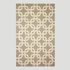 One of my favorite discoveries at WorldMarket.com: Chains Indoor-Outdoor Rug, Neutral