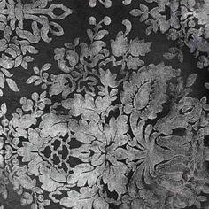 Simili cuir Baroque floqué velours lin x 10cm