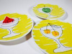 Retro Vintage Vera Neumann Plates Vera for by ChattCatVintage