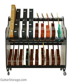 Rolling Guitar Rack