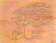 Title  West Texas Wind   Artist  Susie WEBER   Medium  Painting - Acrylic And Art Markers