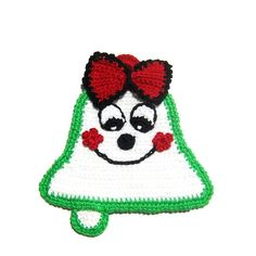 Christmas bell potholder - Crochet | Only Italian Items