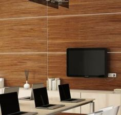 Here's One Alternative To Boring Drywall: Wood Wall Paneling: Exotic Veneers Mean Handsome Wood Wall Panels renovation Wood Paneling Wood Panel Walls, Wooden Walls, Wall Boards Panels, Wood Slats, Wood Paneling, Wall Panelling, Paneling Ideas, Slat Wall, Wall Cladding