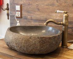 Flußsteinwaschbecken 45-50 cm Flußkiesel Waschschale Naturstein