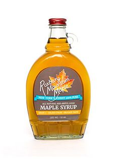 Grade A Golden Maple Syrup, Roxbury Mountain Maple, 12 Oz Glass * Find out more details @: at Baking Ingredients.
