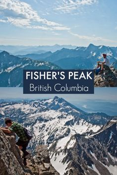 Hiking Fisher's Peak near Cranbrook, British Columbia. A challenging day hike with spectacular views of the Canadian Rockies.