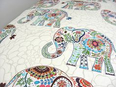 Hey, I found this really awesome Etsy listing at https://www.etsy.com/listing/172710101/cream-elephant-fitted-crib-sheet