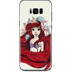 Ariel Illustration Galaxy S8 Plus Skin ($15) ❤ liked on Polyvore featuring accessories and tech accessories