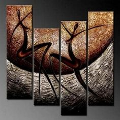 4 Piece Wall Art, Abstract Figure Painting, Wall Painting, Acrylic Art – Silvia Home Craft Living Room Canvas Painting, Texture Painting On Canvas, Hand Painting Art, Oil Painting Abstract, Acrylic Painting Canvas, Abstract Wall Art, Figure Painting, Woman Painting, Large Paintings For Sale
