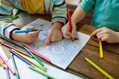 We've created a resource of daily brain breaks that you can do at home! Feel free to switch around the days to best suit your schedule, or put your own twist on the brain breaks. Diy Coloring Books, Hand Coloring, Coloring Pages, Lego Creator Sets, Van Gogh Museum, Art Therapy Activities, Free Activities, Zentangle, Aqua Doodle