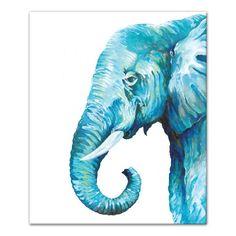 Colorful Elephant, Elephant Art, Elephant Watercolor, Elephant Canvas Painting, Elephant Paintings, Water Color Elephant, Elephant Tattoos, Blue Painting, Painting Prints
