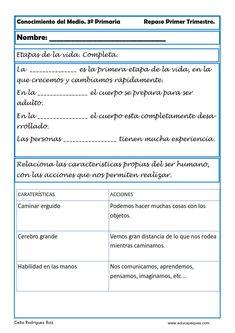 Indice de contenido1 Fichas Conocimiento del Medio en nuestros Recursos Educativos1.1 Fichas Conocimiento del Medio para Tercero de Primaria1.1.1 Ejercicios
