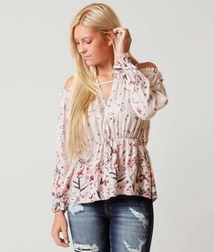 1c6577fd61bc06 Gimmicks Cold Shoulder Top - Women s Shirts Blouses in Print Multi