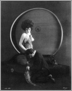 """Rudolph Valentino and Alla Nazimova in """"Camille"""" [1921]"""