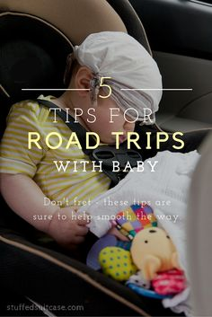 Dreading or worried about an upcoming road trip with baby? Don't fret! Use these 5 travel tips to help ease the way. I especially love tip #3!