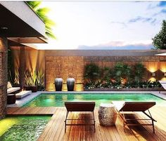 140 incredible small indoor pool design ideas for cozy summer at your home- page 50 Backyard Pool Designs, Small Backyard Pools, Small Pools, Swimming Pools Backyard, Swimming Pool Designs, Pool Pool, Oasis Backyard, Pool Cabana, Pool Lounge