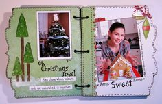 Today, I am sharing my Christmas Mini Album that I made for Magenta in January. While I used the cute bracket December Daily Album. Christmas Mini Albums, Christmas Minis, Christmas Tree, Magenta, December Daily, Sweet Home, Colours, Scrap, Decor