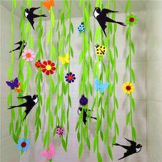 商店超市 幼儿园走廊教室装饰 大药房布置挂饰 春天装饰吊饰