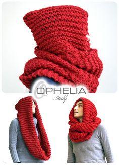 Tutorial scaldacollo con cappuccio a maglia.