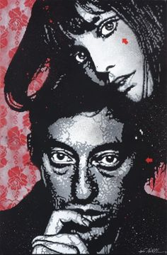 Serge Gainsbourg Jane Birkin by Jef Aérosol
