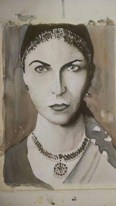 Watercolor ma'am face