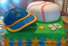 Baseball cake  and ball cupcakes!, by Ponquesi.com