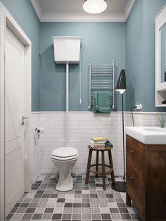 Изначально цвет туалета нравился такой. Сейчас думаем, что тон цвета лучше тебе подобрать. Возможно и белый, если плитка на полу будет очень броская.