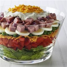 Layered Salad-Easter leftovers
