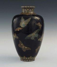 Mavicini - exquisite Japanese cloisonné vase