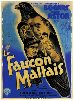 Samuel Spade (Humphrey Bogart), Brigid O'Shaughnessy (Mary Astor), and Joel Cairo (Peter Lorre) in The Maltese Falcon Director: John Huston. Image from What Dreams Are Made Of: A Century of Movie Magic at Auction as Curated by © Humphrey Bogart, Posters Vintage, Vintage Movies, Lorde, Maltese Falcon Movie, Peter Lorre, Mary Astor, John Huston, Great Films