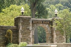 Huntington, West Virginia Ritter Park is my favorite city park. My daughter was married in the Rose Garden