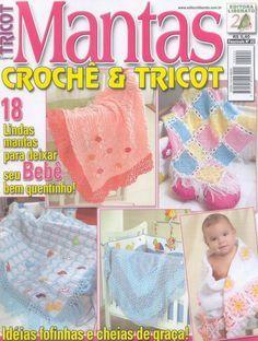 Revista TRICOT Bebê Mantas Crochê e Tricô - Receita Tricô Fácil