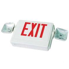 Exit Sign Ght Red Led Emergency Light Standard Combo Ul924 E41cr Ebay