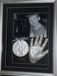 Impressions of pet paws. - Kayla's Kastings Ty with his dog Matty