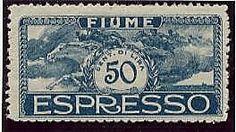 Espresso D'Annunzio 2 val. colori invertiti (E.1A/E.2A). Qualche dente non allineato nel 50 c. - Rari.