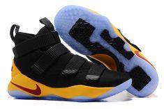 8fc2243f001eb 2018 Nike LeBron Soldier 11 Black Yellow Cavs PE Basketball Shoes Lebron  14, Nike Lebron