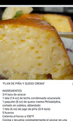 Flan de piña y Queso crema – Mexican food Mexican Jello Recipe, Mexican Dessert Recipes, Jello Recipes, Gourmet Recipes, Mexican Food Recipes, Sweet Recipes, Cooking Recipes, Mexican Sweet Breads, Flan Cake