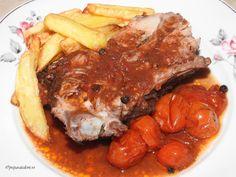 Piept de porc la cuptor cu sos de rosii si usturoi Cheesesteak, Pot Roast, Ethnic Recipes, Pork, Carne Asada, Roast Beef