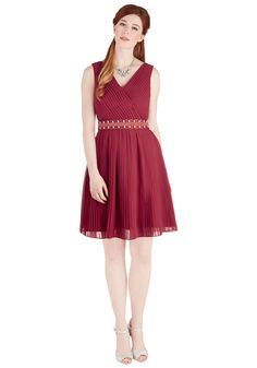 Glitz and Grandeur Dress in Ruby | Mod Retro Vintage Dresses | ModCloth.com- I love the color and cut of this dress - Perfect for a family wedding! - SM