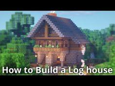 Minecraft: Log House Tutorial – How to Build a House in Minecraft – Log Houses Minecraft Log Cabin, Minecraft Plans, Minecraft Tutorial, Minecraft Blueprints, Minecraft Projects, Minecraft Designs, Minecraft Crafts, Minecraft Stuff, Minecraft Architecture
