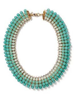 Aqua Ombre Necklace | Banana Republic