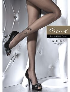 ATHENA 20 denG5238 Top quality, highly fashionable patterned tights. Matte, sheer-to-waist with comfortable flat seams. Invisibly reinforced toe portion and single-covered elastane yarn for improved durability. Perfect to finish off any stylish ensemble.