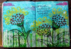 Kat's Stampin and Scrap Pad: More Pages in my Art Journal