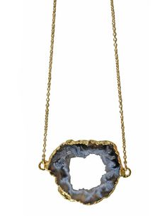 Etsy の sideways AGATE geode druzy necklace by keijewelry