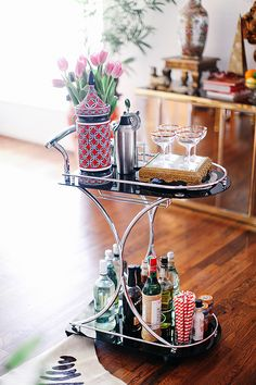 Bar cart… not a bad idea