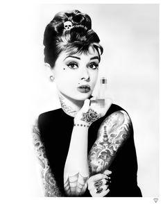 Audrey Hepburn Tattoo by JJ Adams