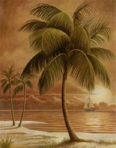 palm tree island ocean beach tropical LIGHT SWITCH PLATE cover UNIQUE WALL ART