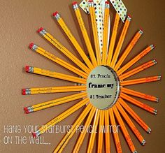 Starburst Pencil wreath teacher gift