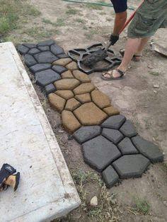 Cobble stone moulds